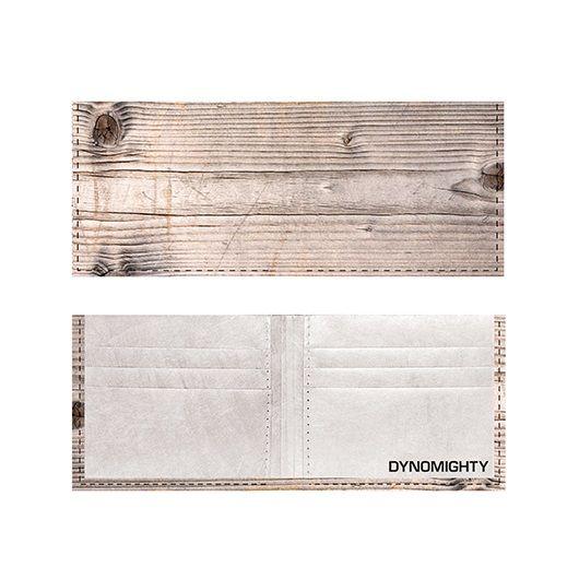 Dynomighty ארנק Tyvek דגם Billfold - דמוי עץ
