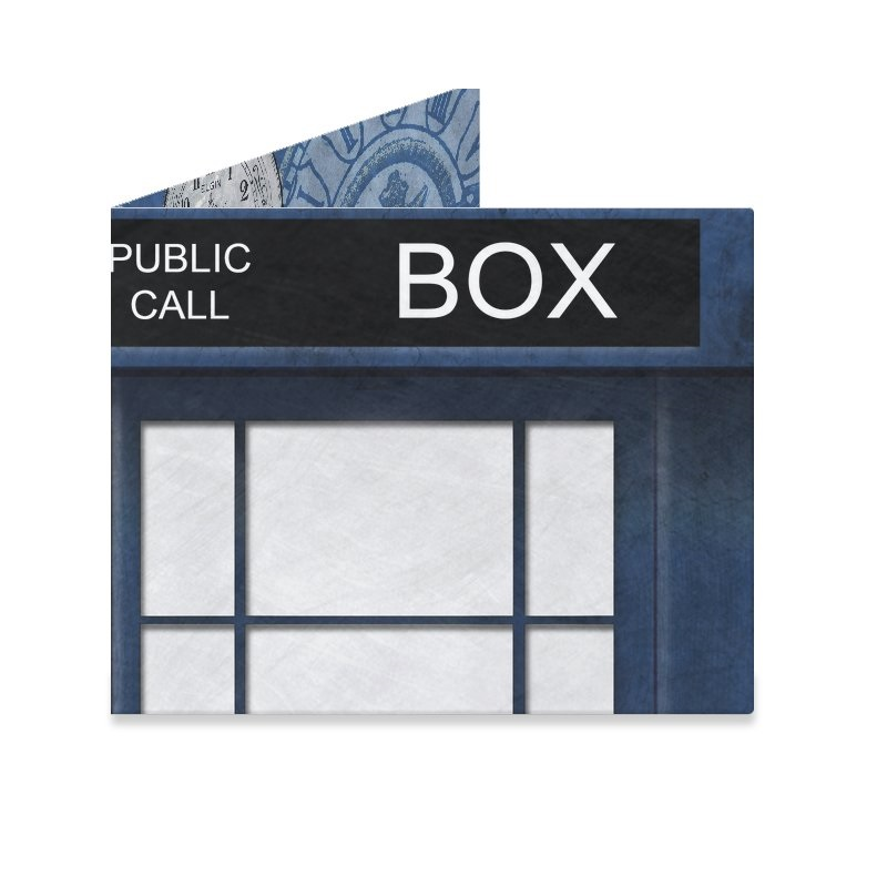 Dynomighty Mighty Wallet - Blue Police Box