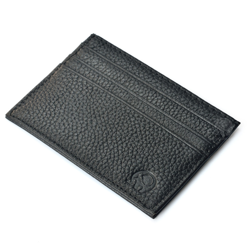 WALLET Small leather credit card wallet - Black