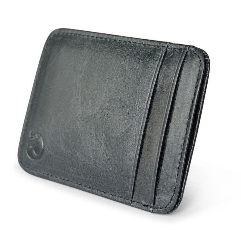 WALLET Slim leather credit card wallet - Black