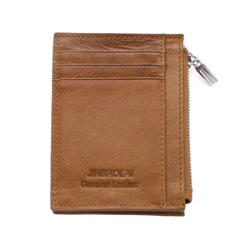 The Perfect Mens Minimalist Wallet - Light Brown