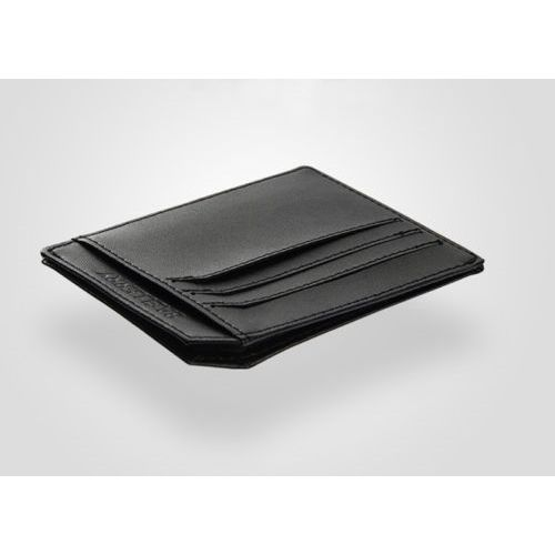 WALLET Minimalist leather wallet with 9 pockets - Black
