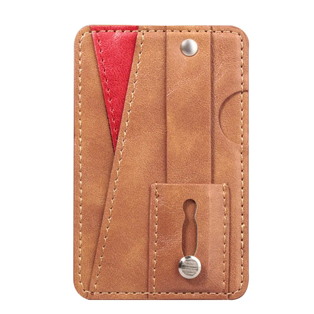 Phone Wallet Card Holder - Brown