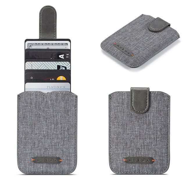 WALLET RFID Phone Wallet Card Holder - Grey / Grey