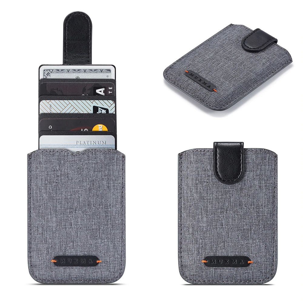 WALLET RFID Phone Wallet Card Holder - Grey / Black