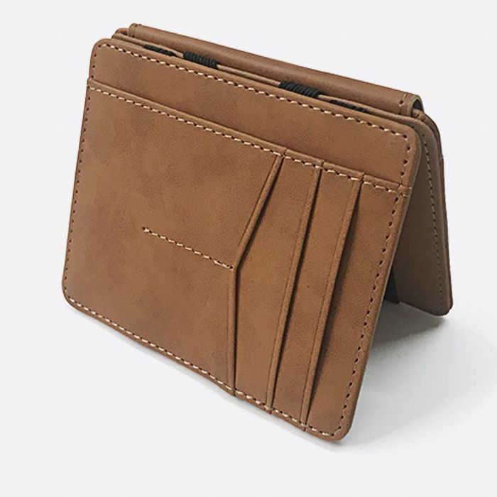 WALLET Magic Wallet With Snap Coin Pocket - Brown