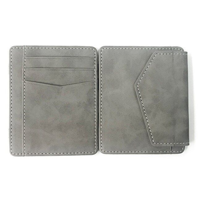 WALLET Magic Wallet With Snap Coin Pocket - Grey