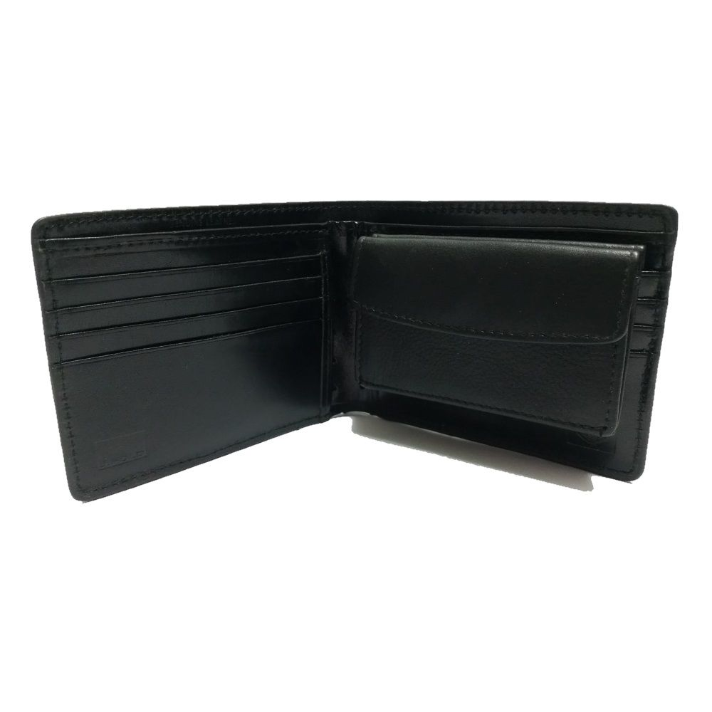 WALLET Removable Coin Pouch - Black