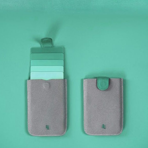 WALLET Minimalist sleeve wallet - Grey/Green