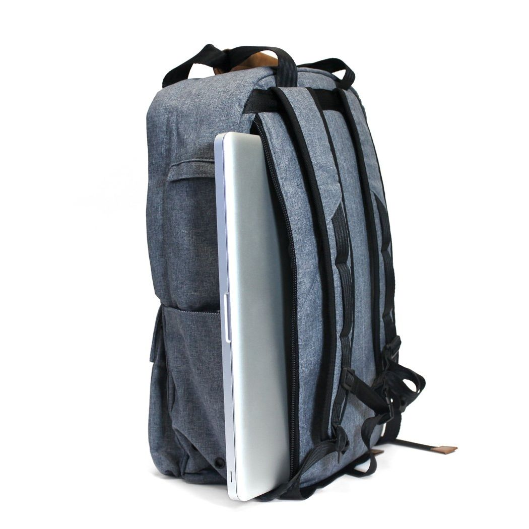 PKG Backpack Tote Pack - Chambray