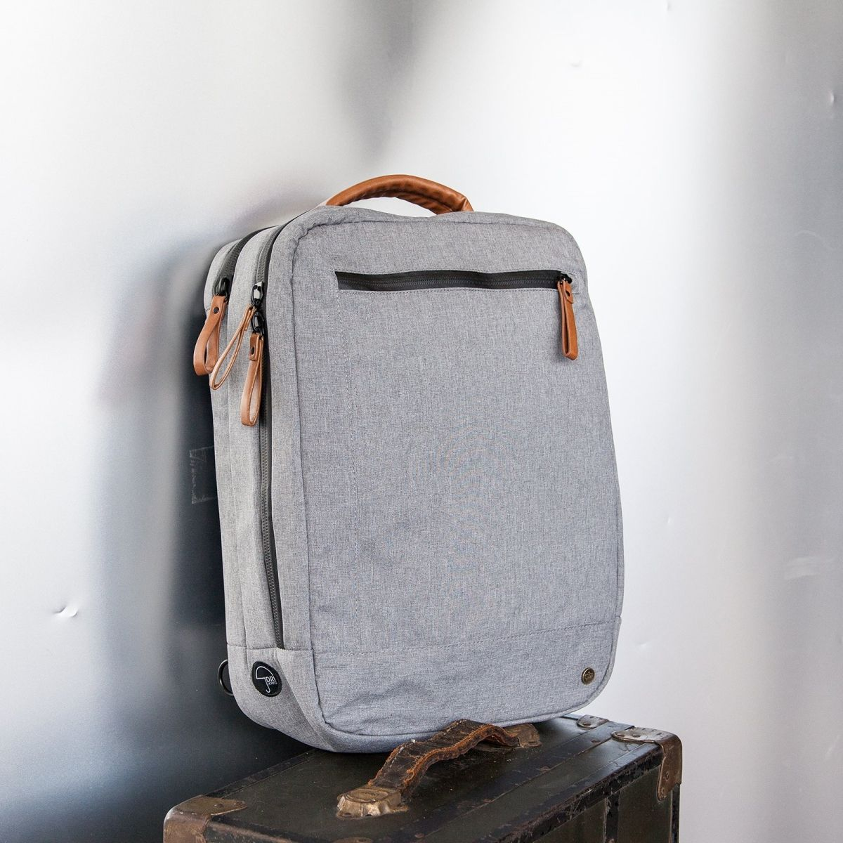 Backpack - Brief Bag - Light Grey