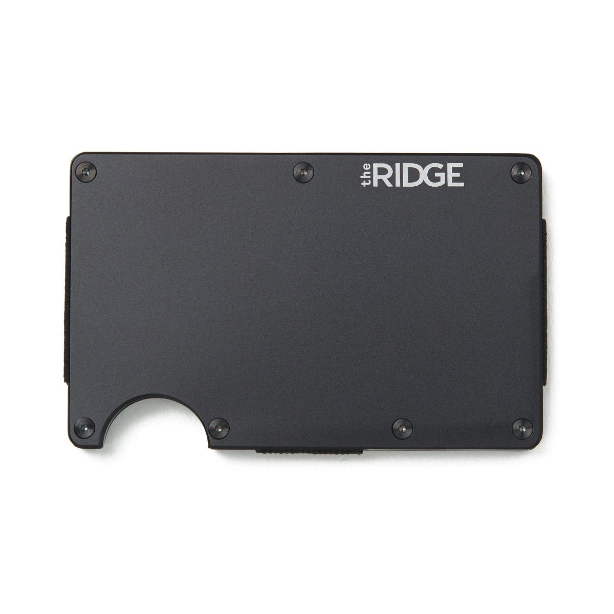 THE RIDGE Aluminum Wallet With Cash Strap - Black