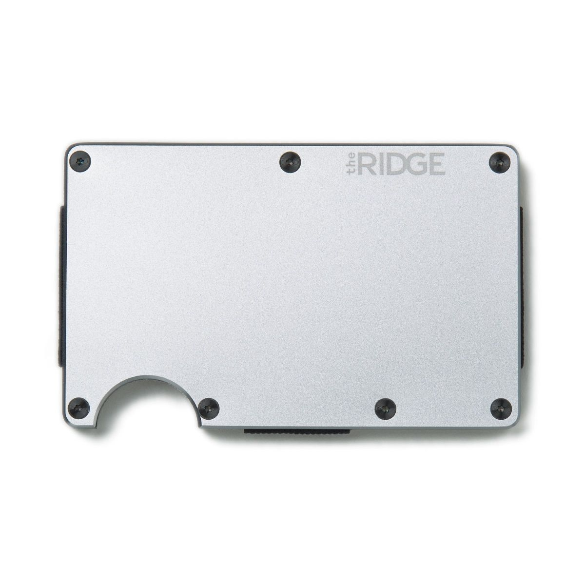 THE RIDGE Aluminum Wallet With Cash Strap - Silver