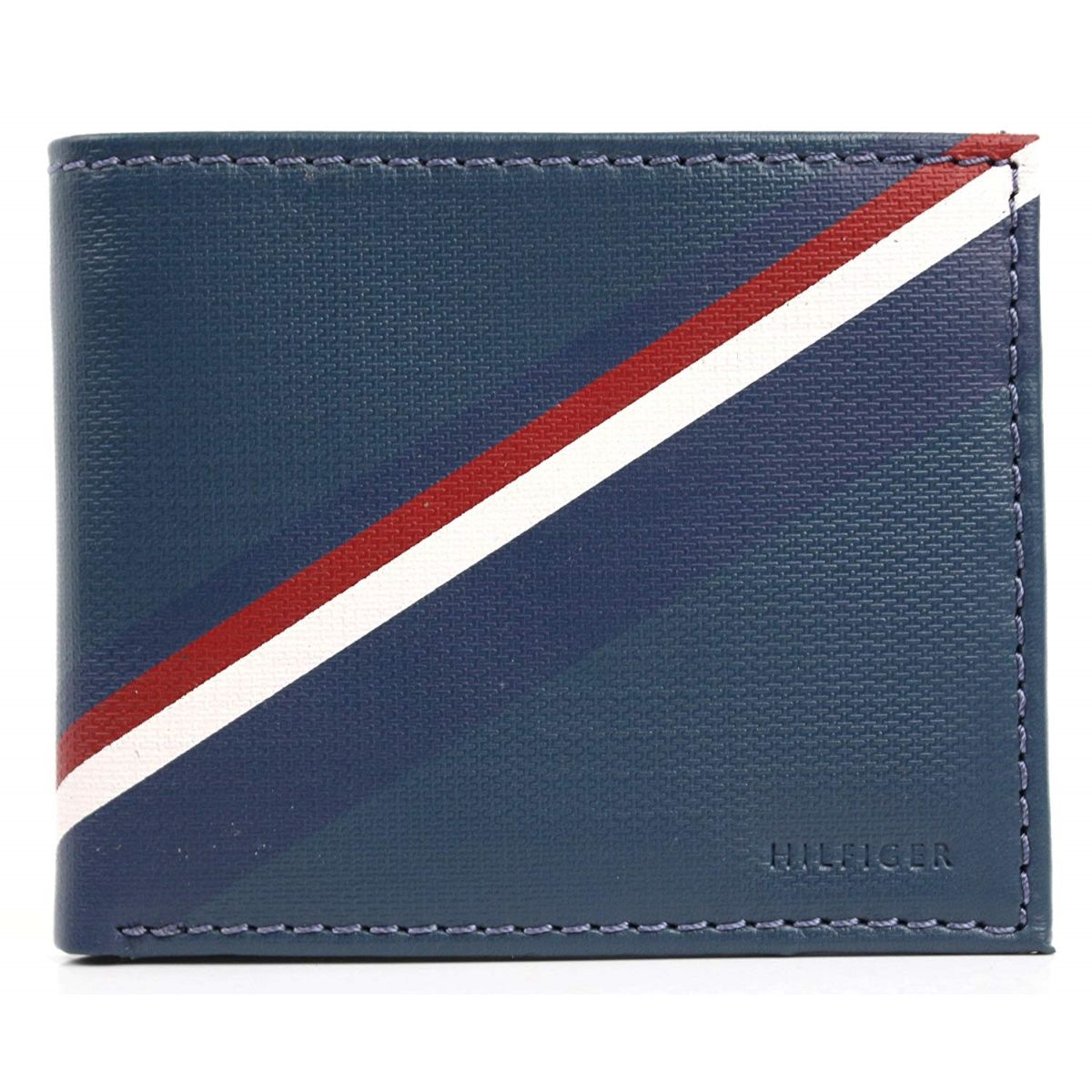 WALLET Tommy Hilfiger Leather Billfold Wallet - Navy