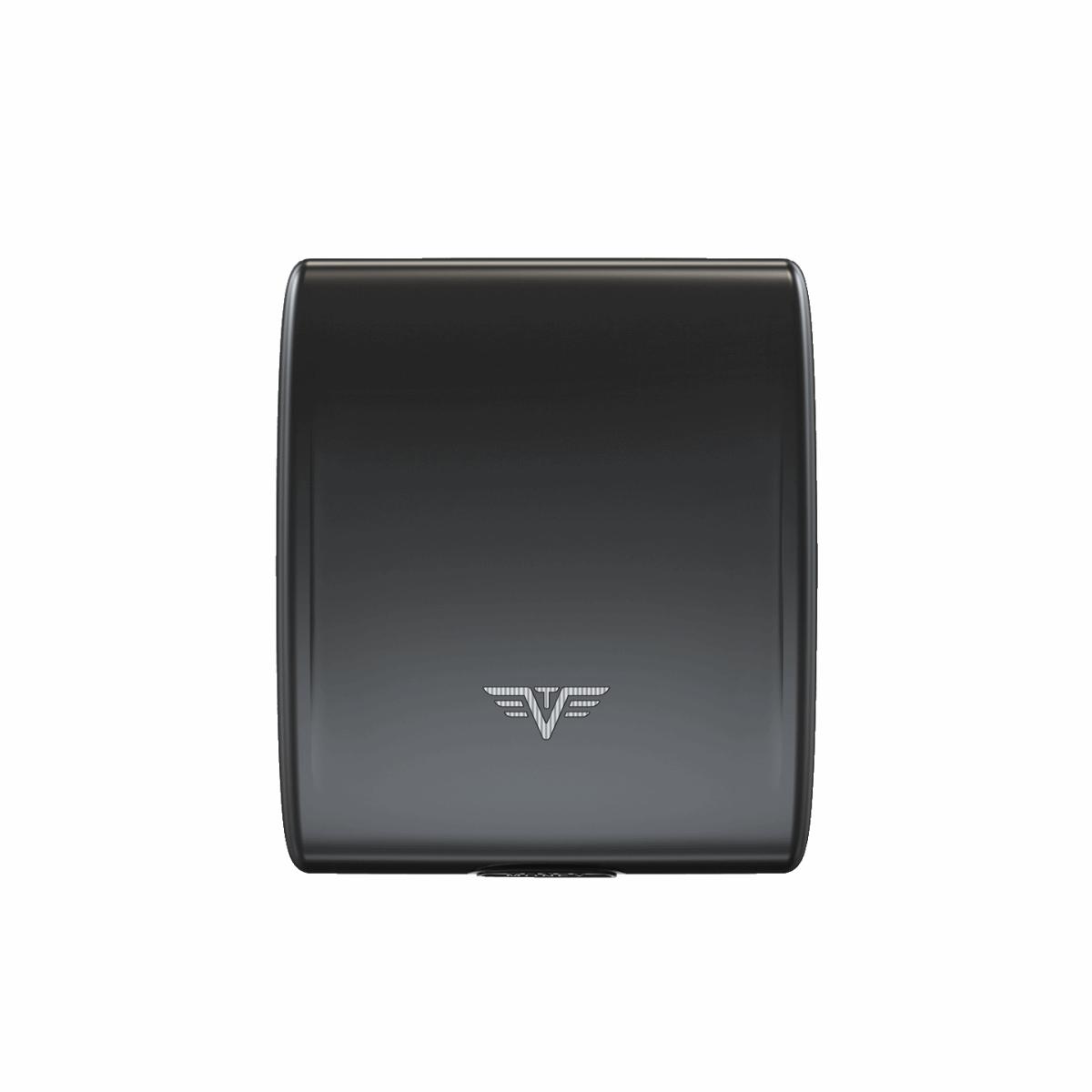 TRU VIRTU Aluminum Wallet Beluga - Money & Cards - Black