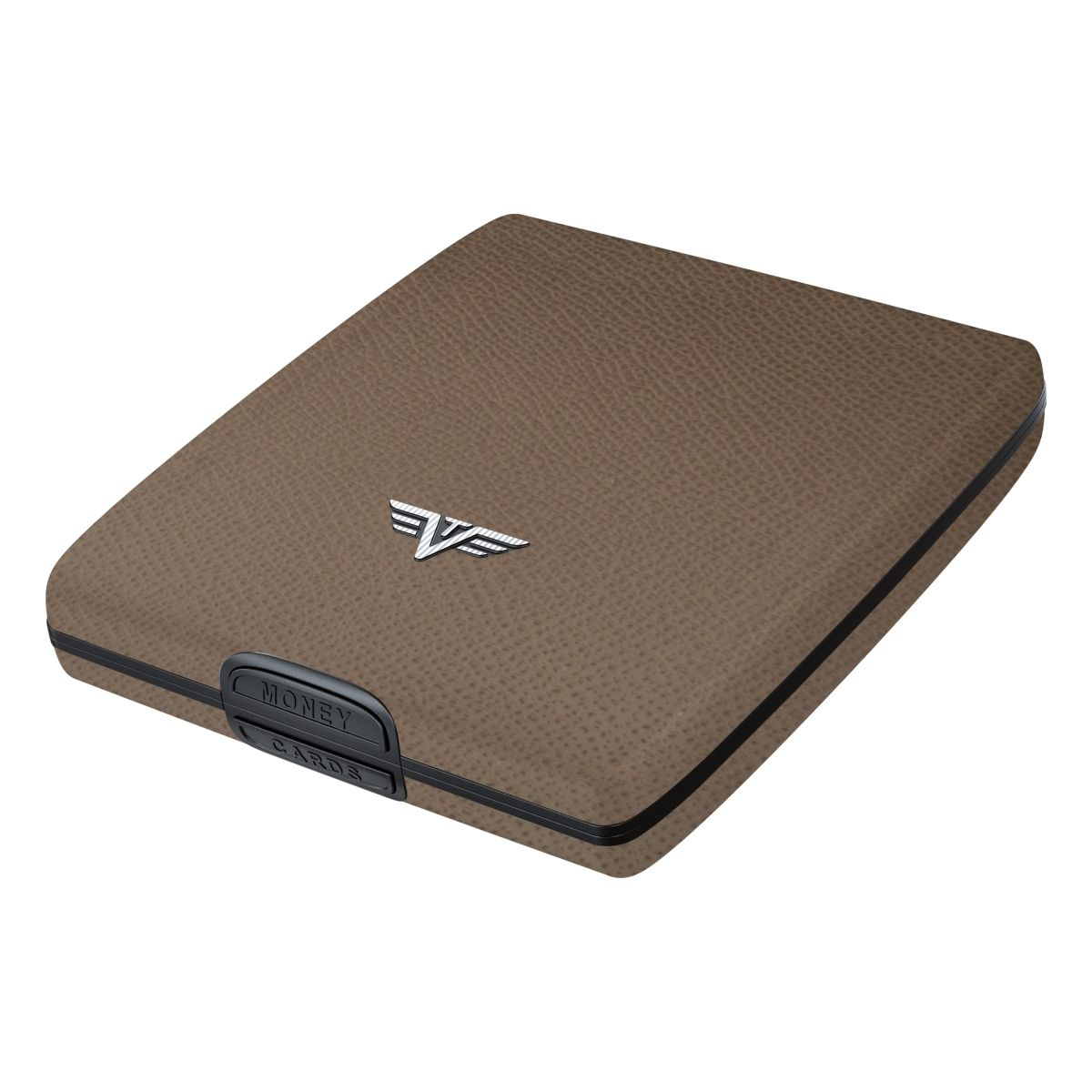 TRU VIRTU Aluminum Wallet Beluga - Money & Cards - Leather Line - Nappa Brown