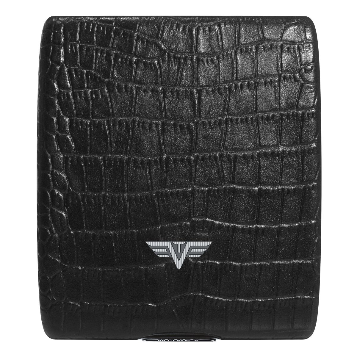 TRU VIRTU Aluminum Wallet Beluga - Money & Cards - Leather Line - Corco Black