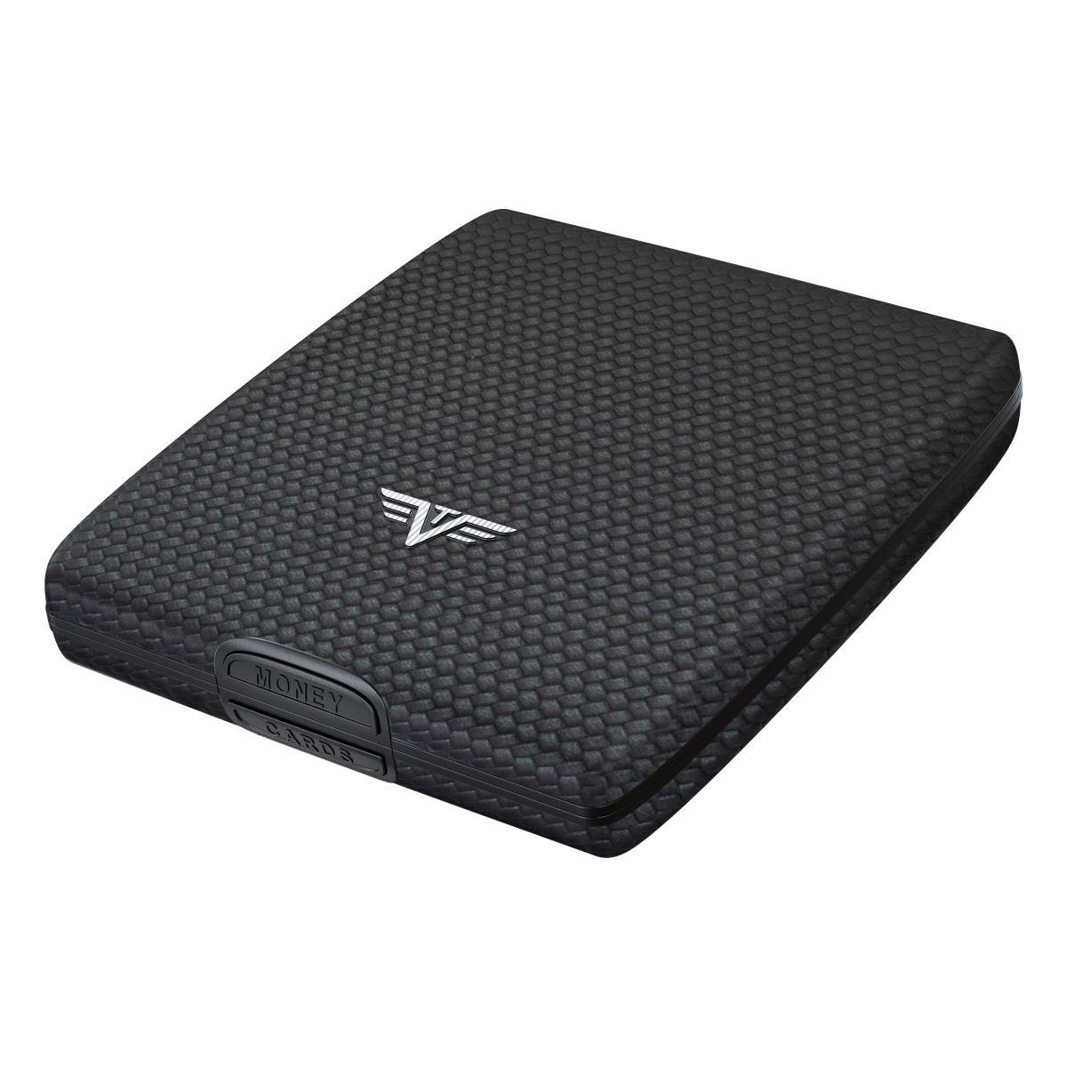 TRU VIRTU Aluminum Wallet Beluga - Money & Cards - Leather Line - Carbon Black