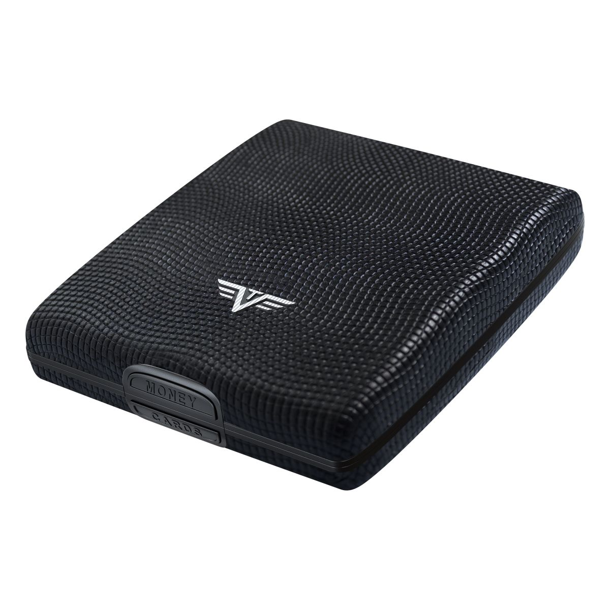 TRU VIRTU Aluminum Wallet Beluga - Money & Cards - Leather Line - Lizard Black