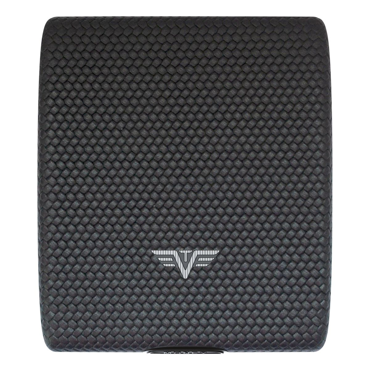 TRU VIRTU Aluminum Wallet Beluga - Money & Cards - Leather Line - Carbon Black