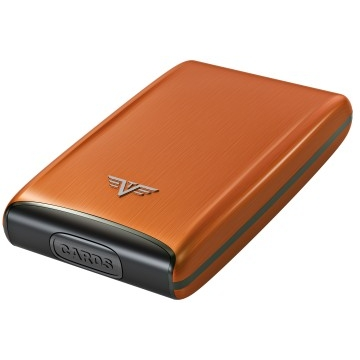 TRU VIRTU Aluminum Razor - Credit Card Case - Orange