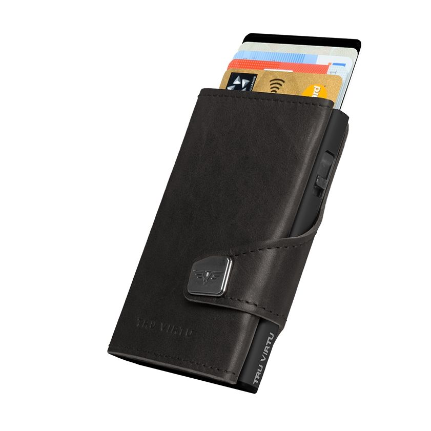 TRU VIRTU Click n Slide Wallet - Dakota Black