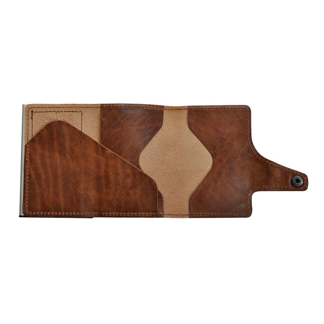 TRU VIRTU Click n Slide Wallet - Natural Brown