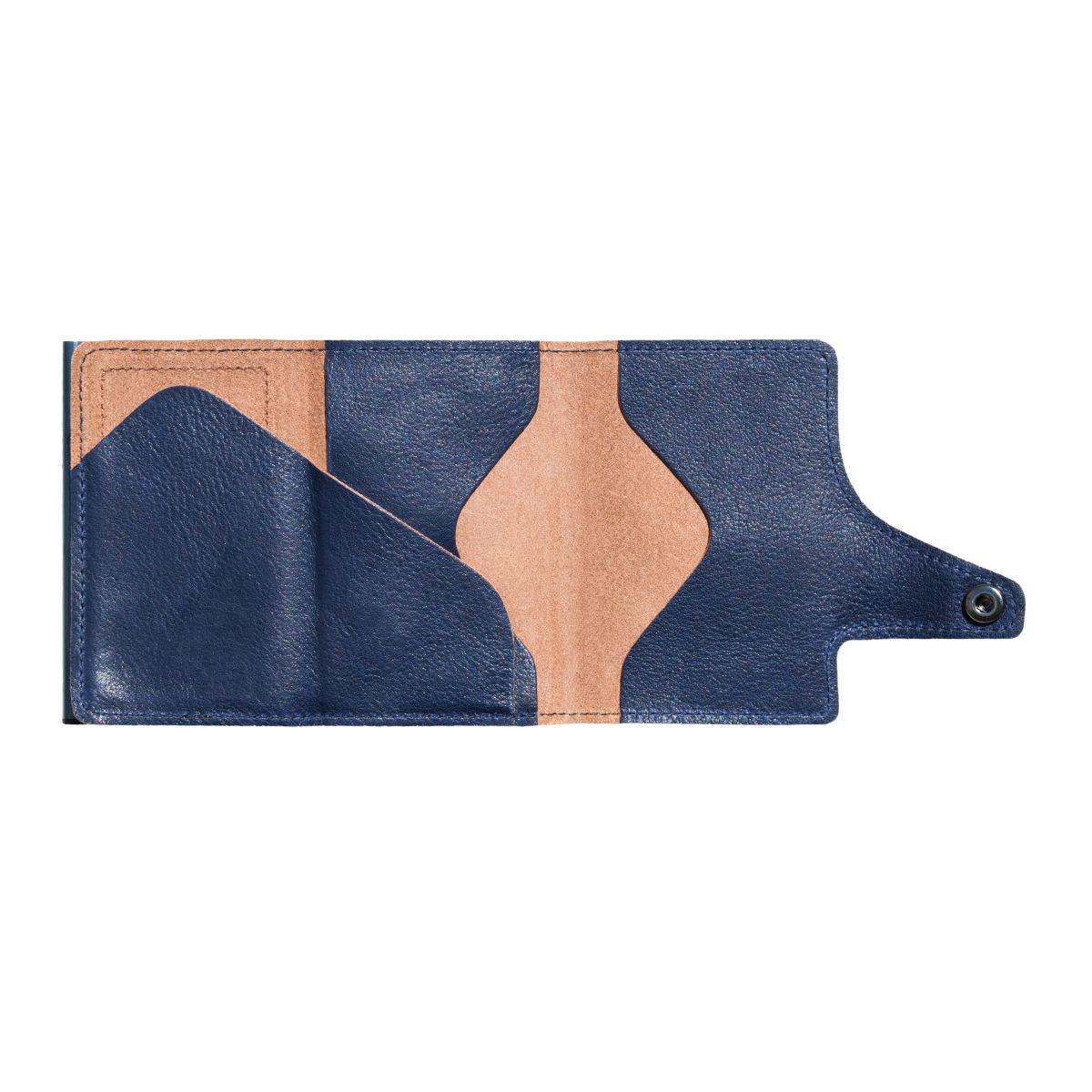 TRU VIRTU Click n Slide Wallet - Caramba Blue / Titan