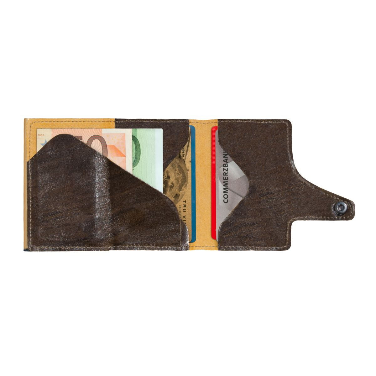 TRU VIRTU Click n Slide Wallet - Caramba Moss green / Gold