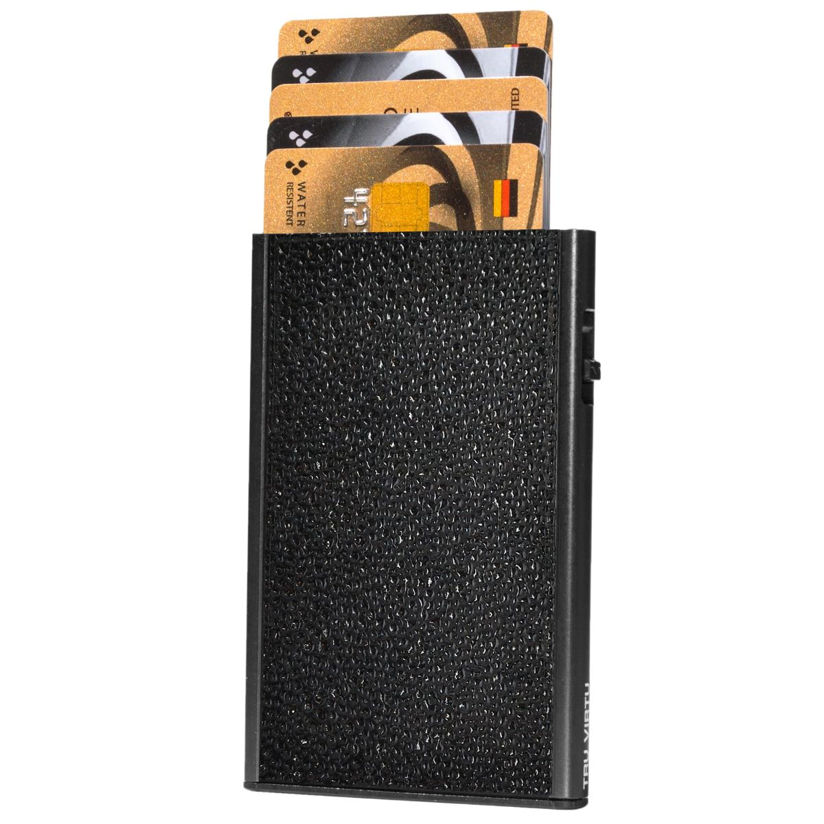 TRU VIRTU Card Case Click n Slide Wallet - Sting Ray Black