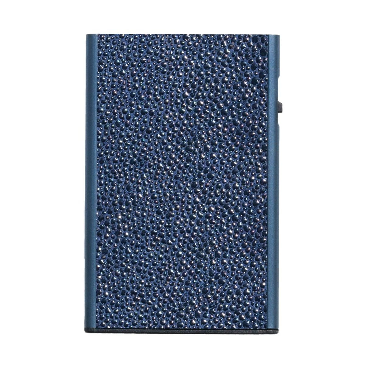TRU VIRTU Card Case Click n Slide Wallet - Sting Ray Blue