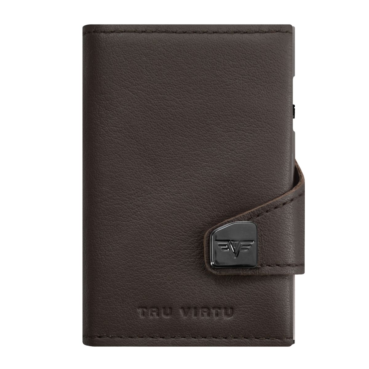 TRU VIRTU Click n Slide Double Wallet - Nappa Brown