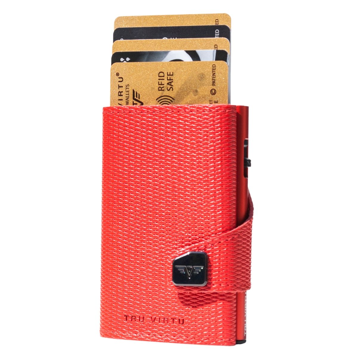 TRU VIRTU Click n Slide Wallet - Red