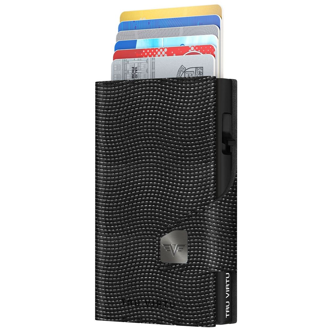 TRU VIRTU Click n Slide Wallet With Coin Pocket - Lizard Black