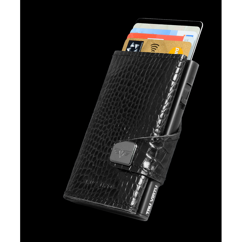 Click n Slide Wallet - Croco Black