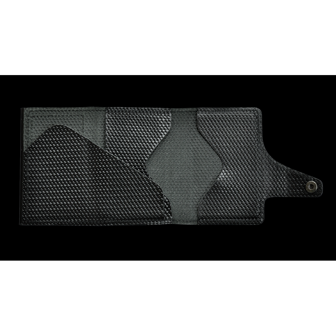TRU VIRTU Click n Slide Wallet - Carbon