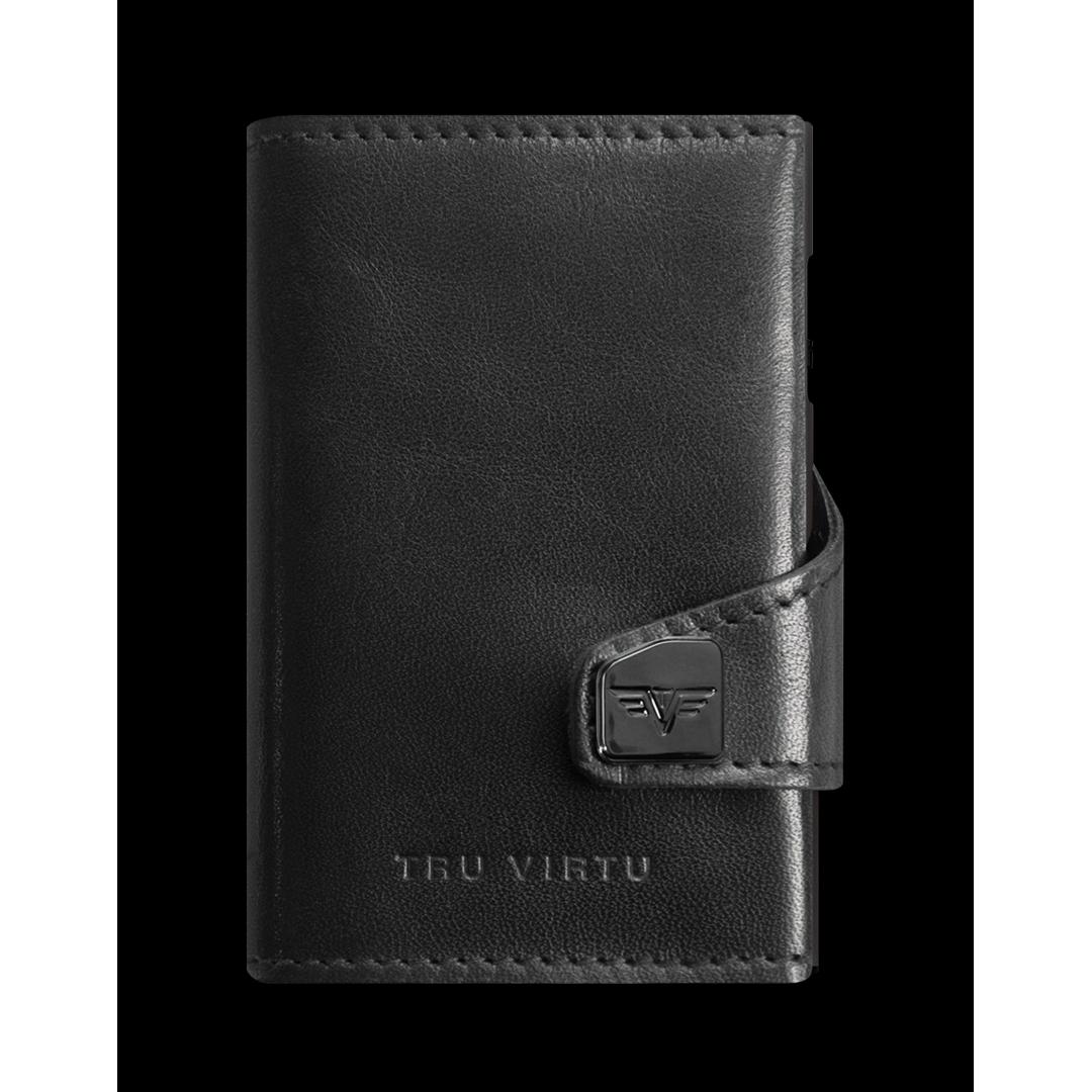 TRU VIRTU Click n Slide Wallet - Nappa Black