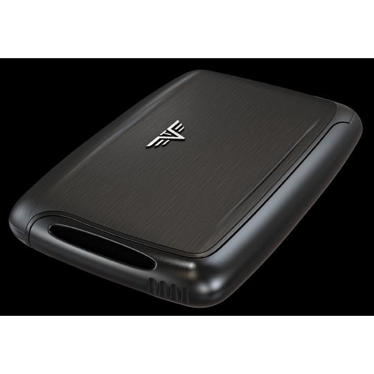 TRU VIRTU Aluminum Card Case - Pearl - Black