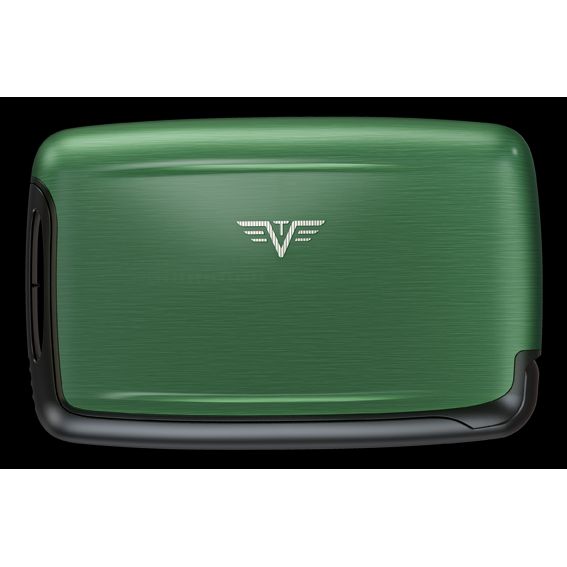 TRU VIRTU Aluminum Card Case - Pearl - Green
