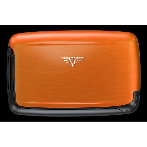 TRU VIRTU Aluminum Card Case - Pearl - Orange