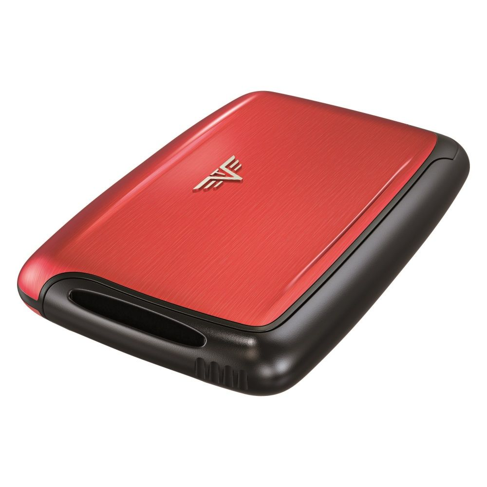 TRU VIRTU Aluminum Card Case - Pearl - Red