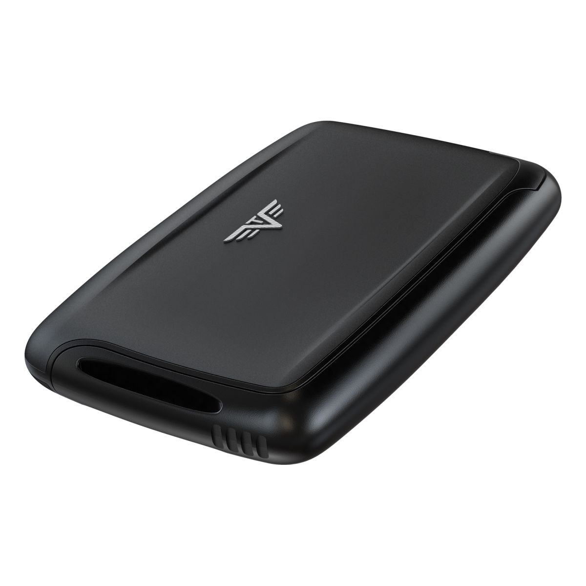 TRU VIRTU Aluminum Card Case - Pearl - Silk Line - Black