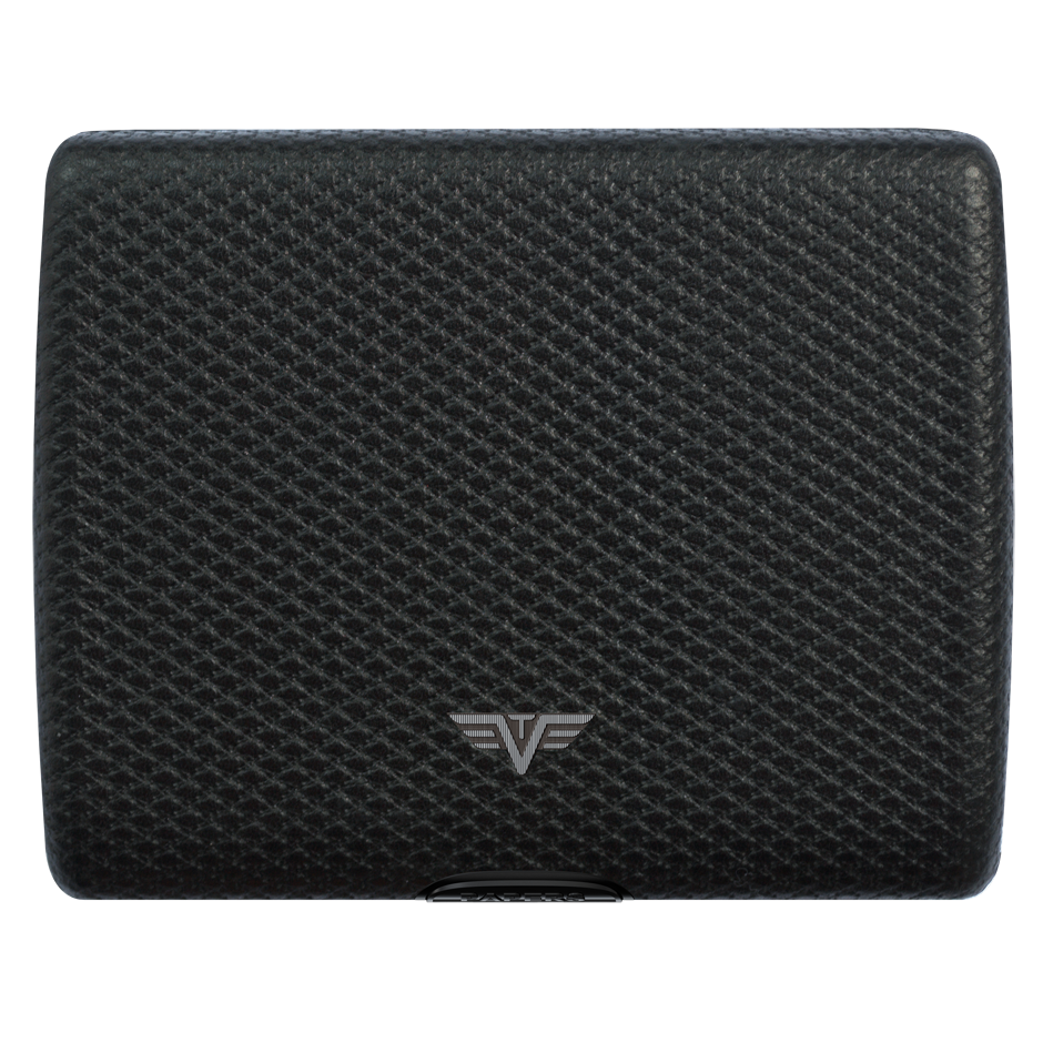 TRU VIRTU Aluminum Wallet Ray - Paper & Cards - Leather Line - Carbon