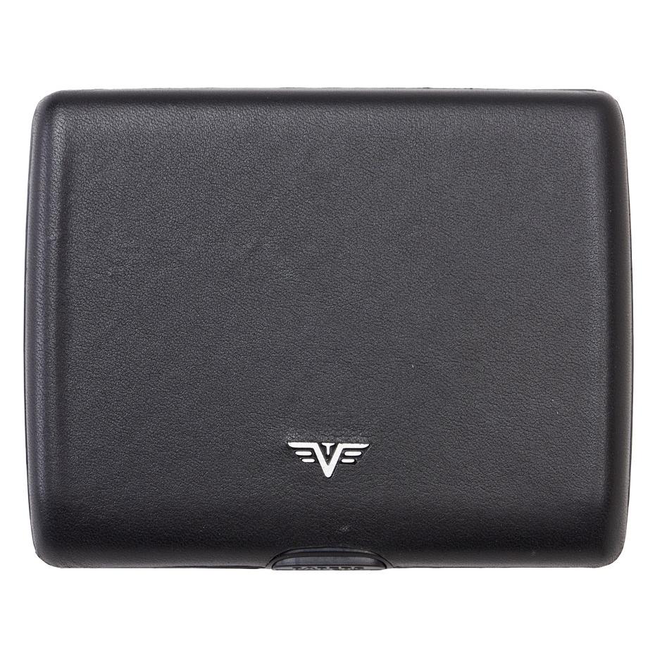 TRU VIRTU ארנק אלומיניום בשילוב עור דגם Ray - שחור נאפה