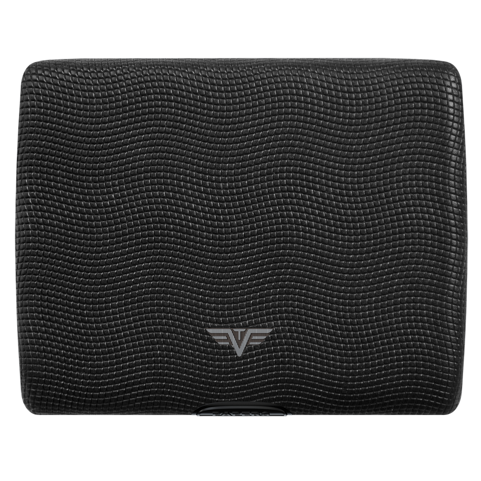 TRU VIRTU Aluminum Wallet Ray - Paper & Cards - Leather Line - Lizard Black
