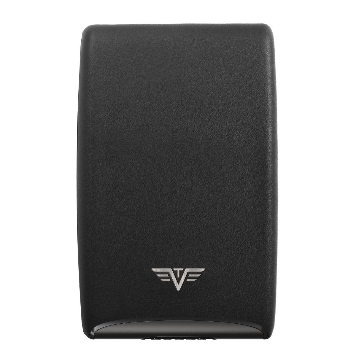 TRU VIRTU Aluminum Card Case Fan Leather Line - Nappa Black