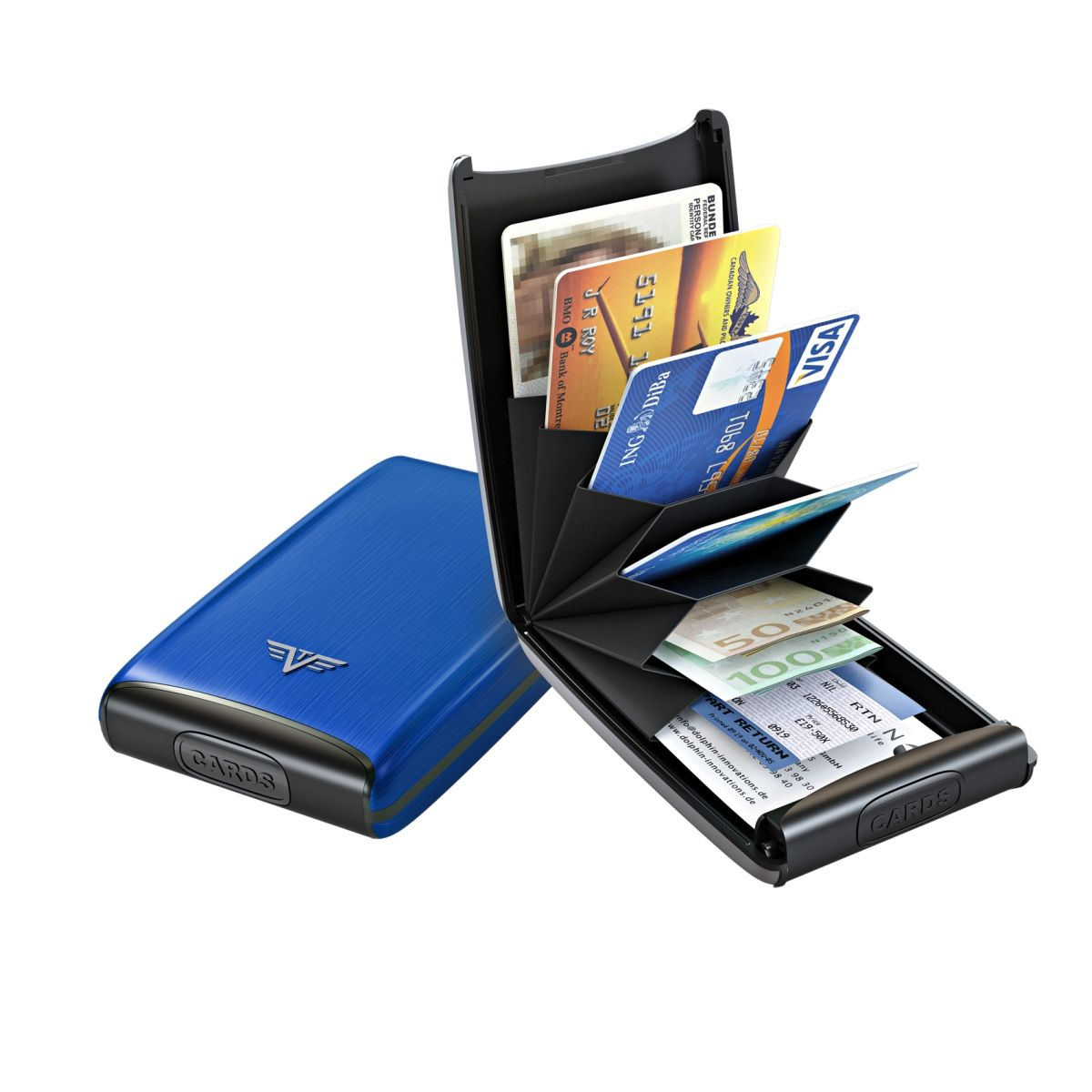 TRU VIRTU Aluminum Card Case Fan - Blue