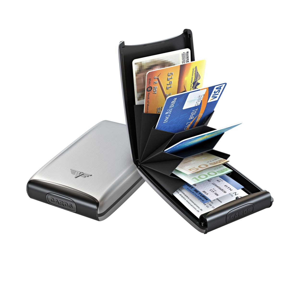 TRU VIRTU Aluminum Card Case Fun - Silver