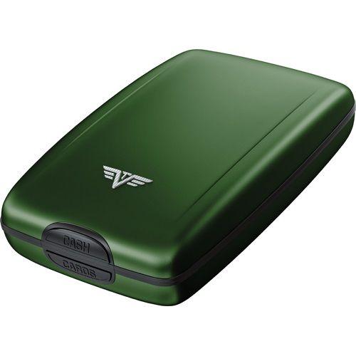 TRU VIRTU Aluminum Wallet Oyster Cash & Cards - Green