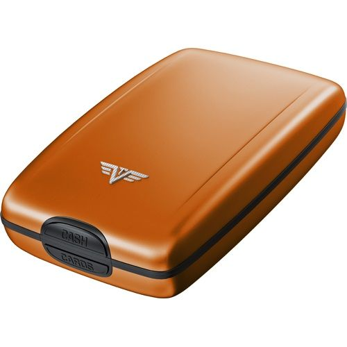 TRU VIRTU Aluminum Wallet Osyter Cash & Cards - Orange